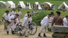 War reenactors valley forge encampment