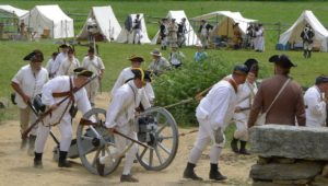 War reenactors valley forge encampment