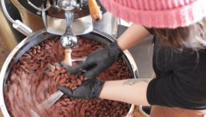 Triangle Roasters mixes beans to make coffee and chocolate