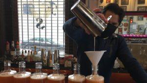 Man mixing cocktails