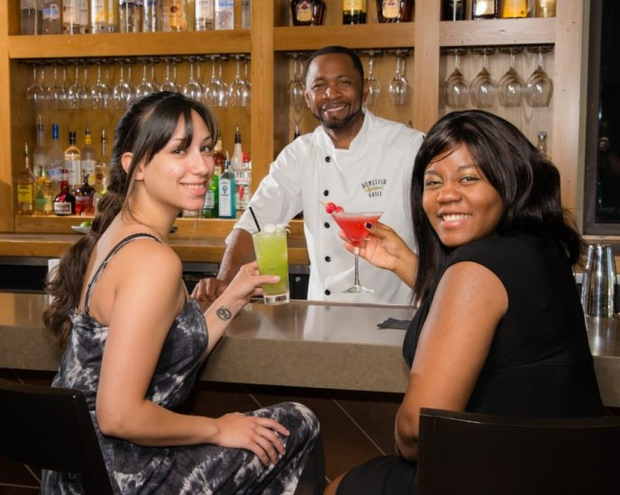 women having a drink in king of prussia bar