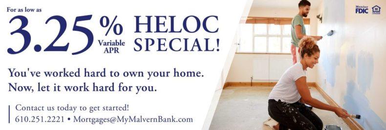Malvern Bank HELOC special
