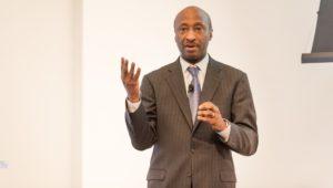 man speaking, CEO Merck