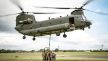 A heavy-lift Chinook helicopter from Boeing