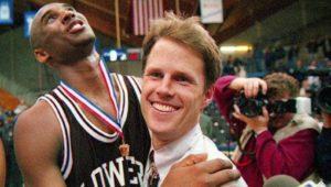 Kobe Bryant and Gregg Downer basketball game