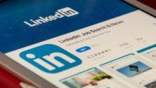 LinkedIn on an iPad Screen