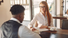 Manager interviews a job candidate