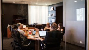 Meeting in a Conference Room