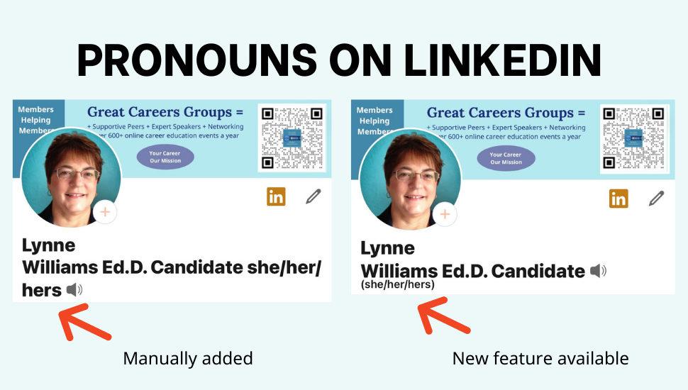 Pronouns on LinkedIn