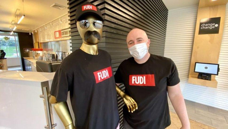 Bryn at FUDI. Vegan fast food.