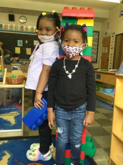 Wonderspring Early Education kids with blocks