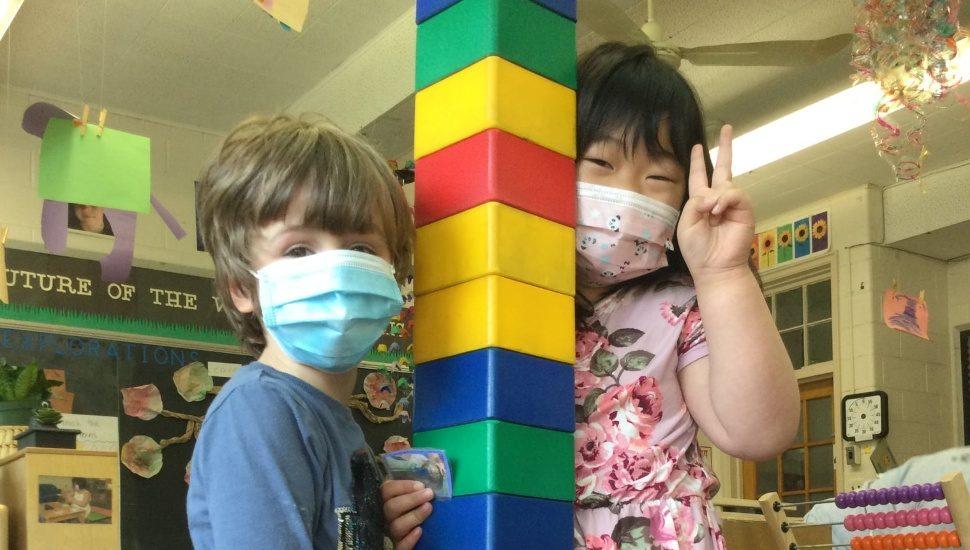 Wonderspring Early Education kids w blocks