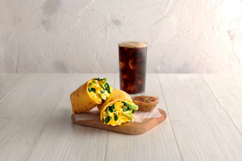 Avocado Breakfast Wrap and Cold Brew combo