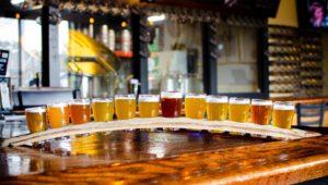 Crave Montco Month beer flight