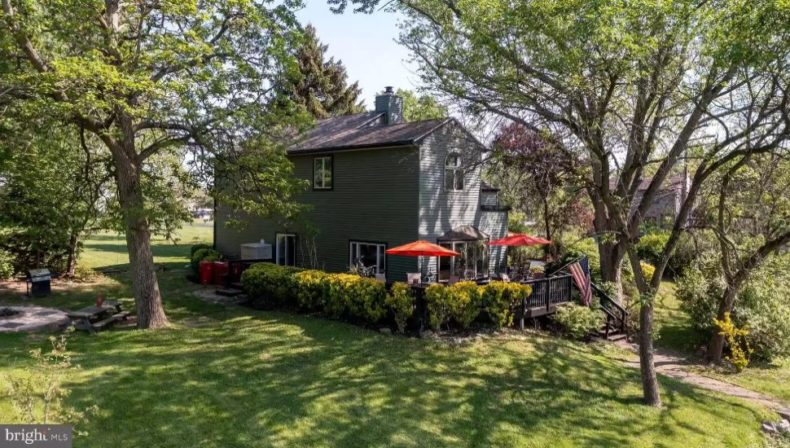 Backyard angle montco house real estate