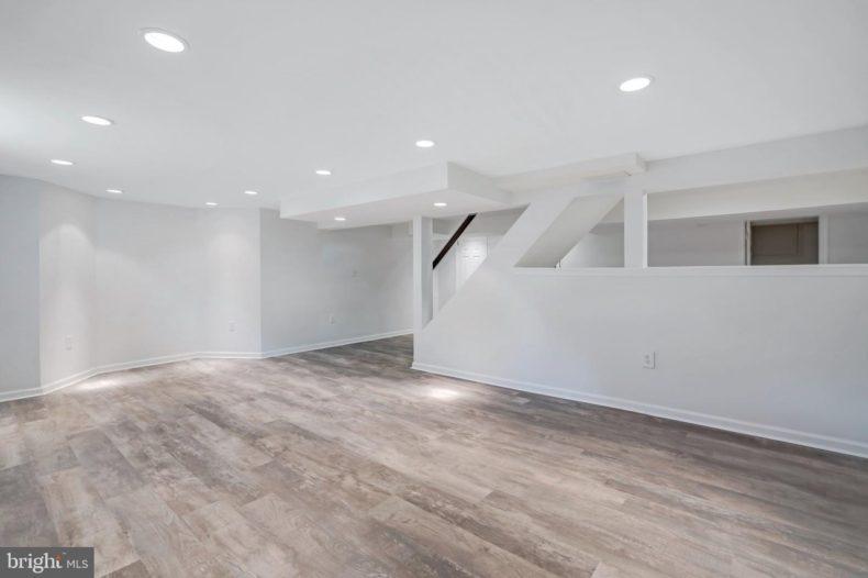 Bala Cynwyd House basement