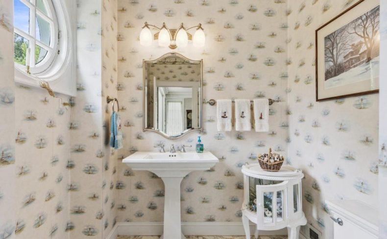 cute powder room montgomery house