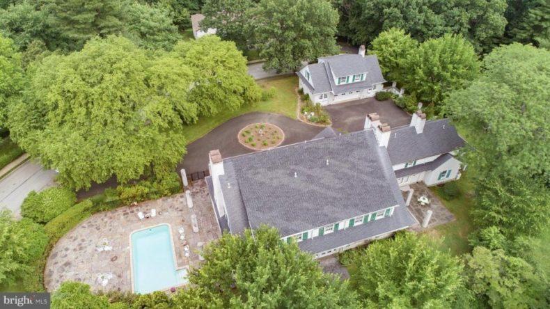 overhead shot wyncote house for sale