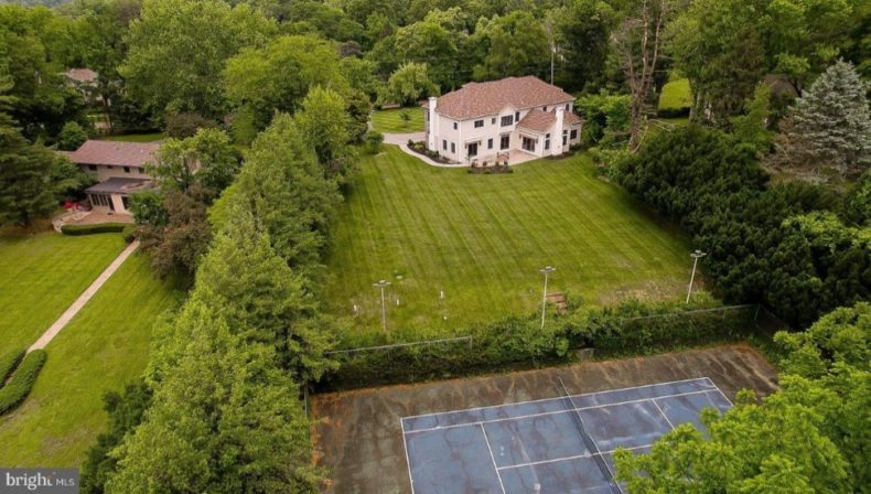 tennis court in house for sale