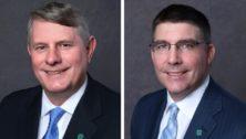 Charles Fields (l) and Lewis Cyr, senior leaders at Penn Community Bank.