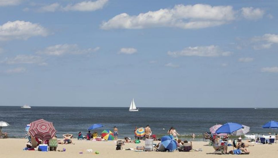 A day at the Jersey Shore on the beach.