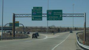 cars on PA turnpike