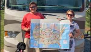 Alex Jensen, Abby Rae Albright-Jensen, and goldendoodle Ramsay are embarking on a coast-to-coast RV road trip.