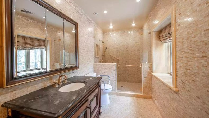 amazing bathroom at Grays Lane in Haverford.