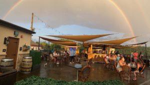 Conshohocken's Skytop Garden bar outside rainbow