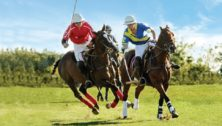 polo match on horses