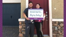 couple at new storybook home