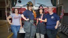 Darby Fire Company's women firefighters (from left) Joanne Middaugh, JoAnna Billings, Aubrey Lehman and Mary Ann Bradford.