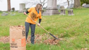 Edgewood Historic Cemetery clean up woman