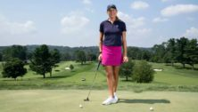 Ashley Grier playing golf at Overbrook Golf Club