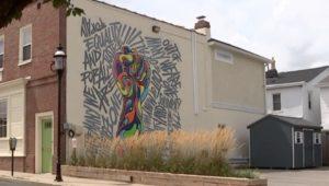 Racial justice mural in Jenkintown.
