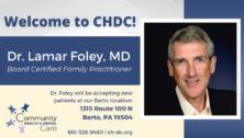 DR. Lamar Foley at CHDC