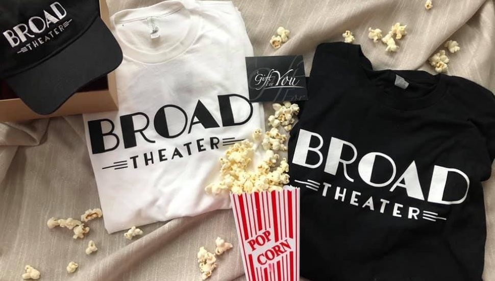 Popcorn and T-shirts at Broad Theatre in Souderton