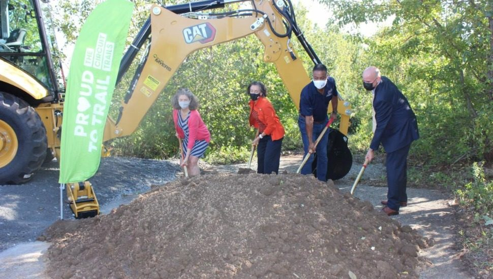 groundbreaking on Chester Valley Trail Extension.