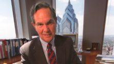 Isaac Clothier at his desk.