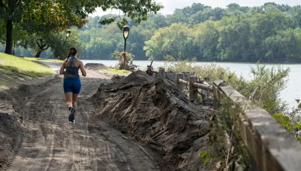 How to Run and Bike on Montco's Section of the Schuylkill River Trail after Hurricane Ida