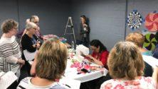 women quilting workshop