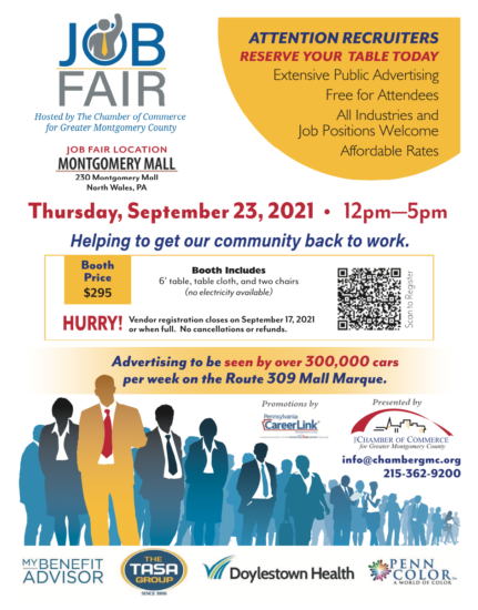 Brochure - September 23rd Job Fair hosted by The Chamber of Commerce of Greater Montgomery County