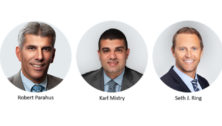 three mens promoted at Toll Brothers.