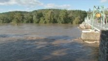 Post-Ida flooding of the Delaware River