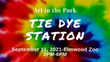 Tie Dye Station Art in the Park