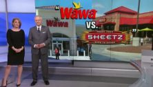 A YouTube still of a Wawa and Sheetz storefront side by side. Both made a best employer list from Forbes.