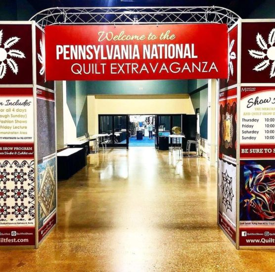 quilt show entrance at expo.