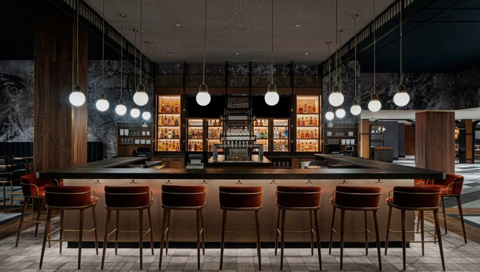 The bar at the Ally steakhouse.