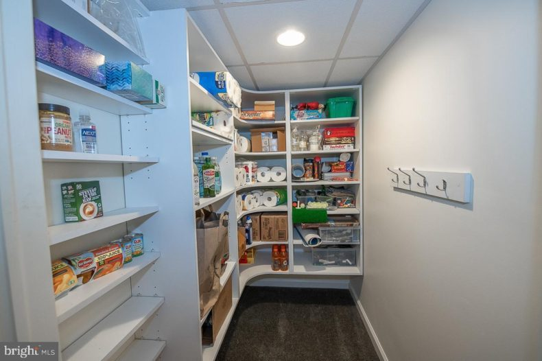 Pantry in closet of house