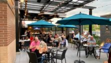 Outdoor patio at Copper Crow In Horsham